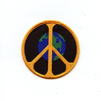 P107 - World Peace Embroidered Patch