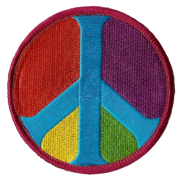 Colorful Peace Sign Patch
