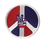 P143 - Patriotic Peace Sign Patch