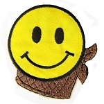 P158 - Smiley Face With Scarf Patch