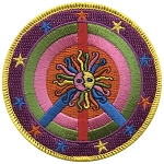 P164 - Sun And Stars Peace Sign Patch
