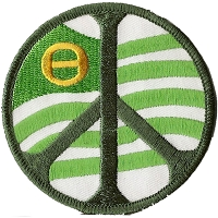 P206 - Peace Sign Ecology Flag Patch