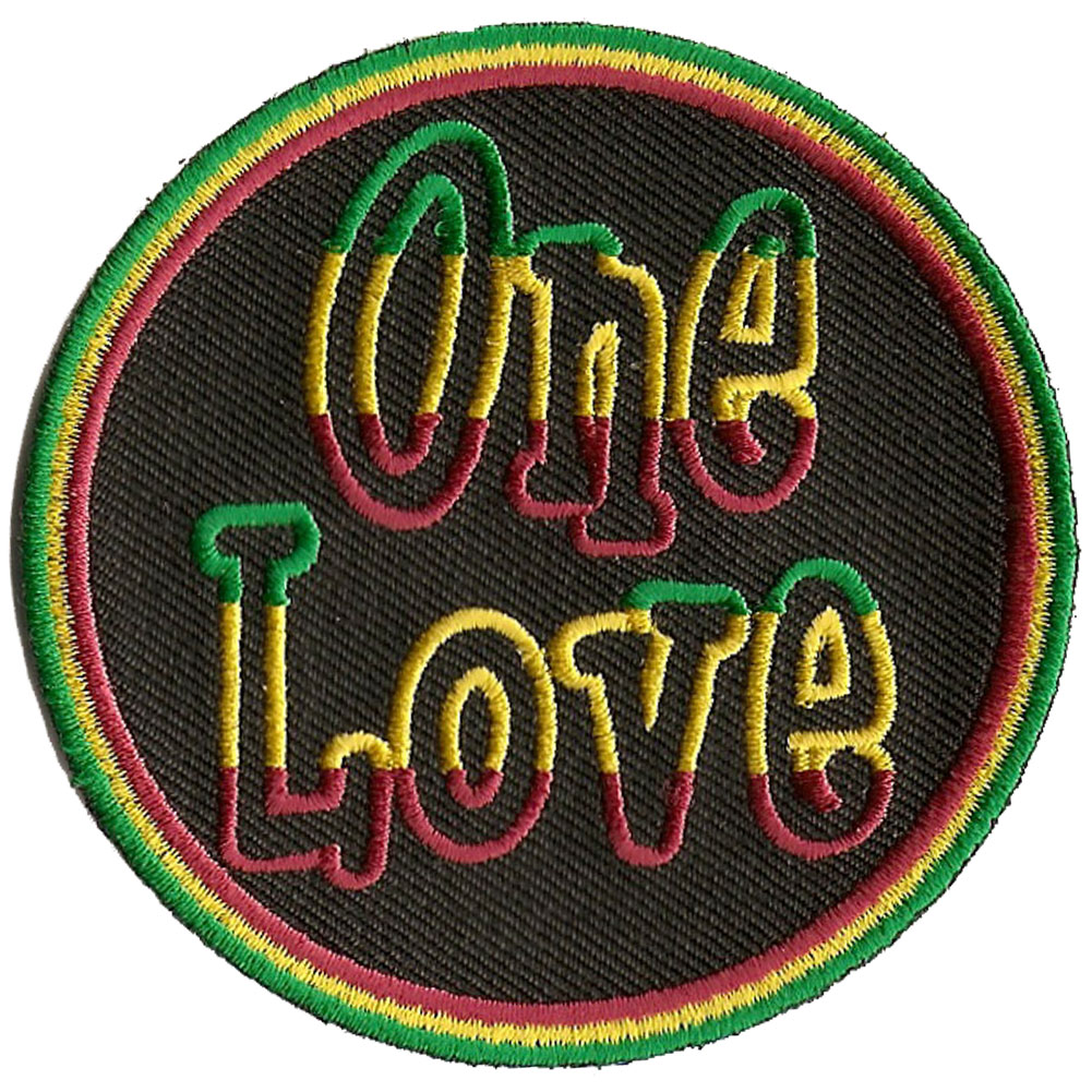rasta one love patch