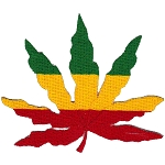 P222 - Rasta Leaf Patch