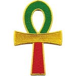 P223 - Rasta Ankh Patch