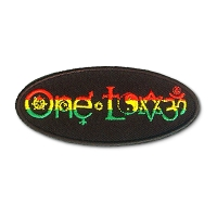 P234 One Love Rasta Symbols Interfaith Embroidered Patch