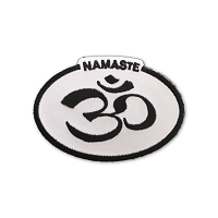 P235 Namaste Om Symbol Oval Embroidered Iron On Patch
