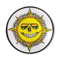 P236 Jerry Jaspar Lucky Old Sun Smiling Skeleton Grateful Dead Embroidered Patch