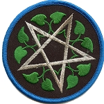 P052 - Pentagram Leaves Embroidered Patch
