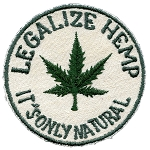 P060 - Legalize Hemp Embroidered Patch