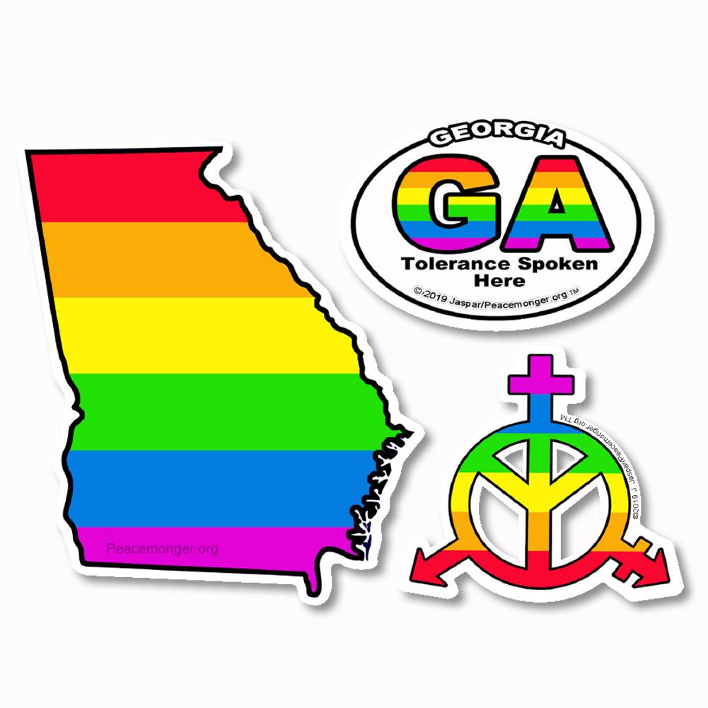 Pk006 california tolerance lgbt gay lesbian bisexual transgender rights 3 sticker set
