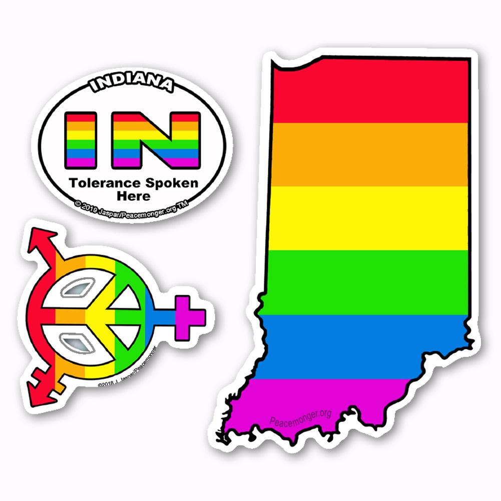 Gay state sticker