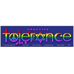 CS122 - Practice Tolerance Rainbow Full Color Bumper Sticker