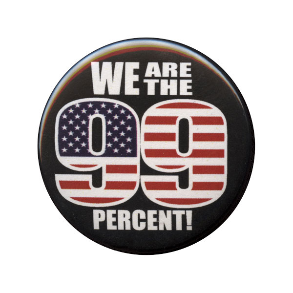 B163 - WE are the 99% US Flag Button