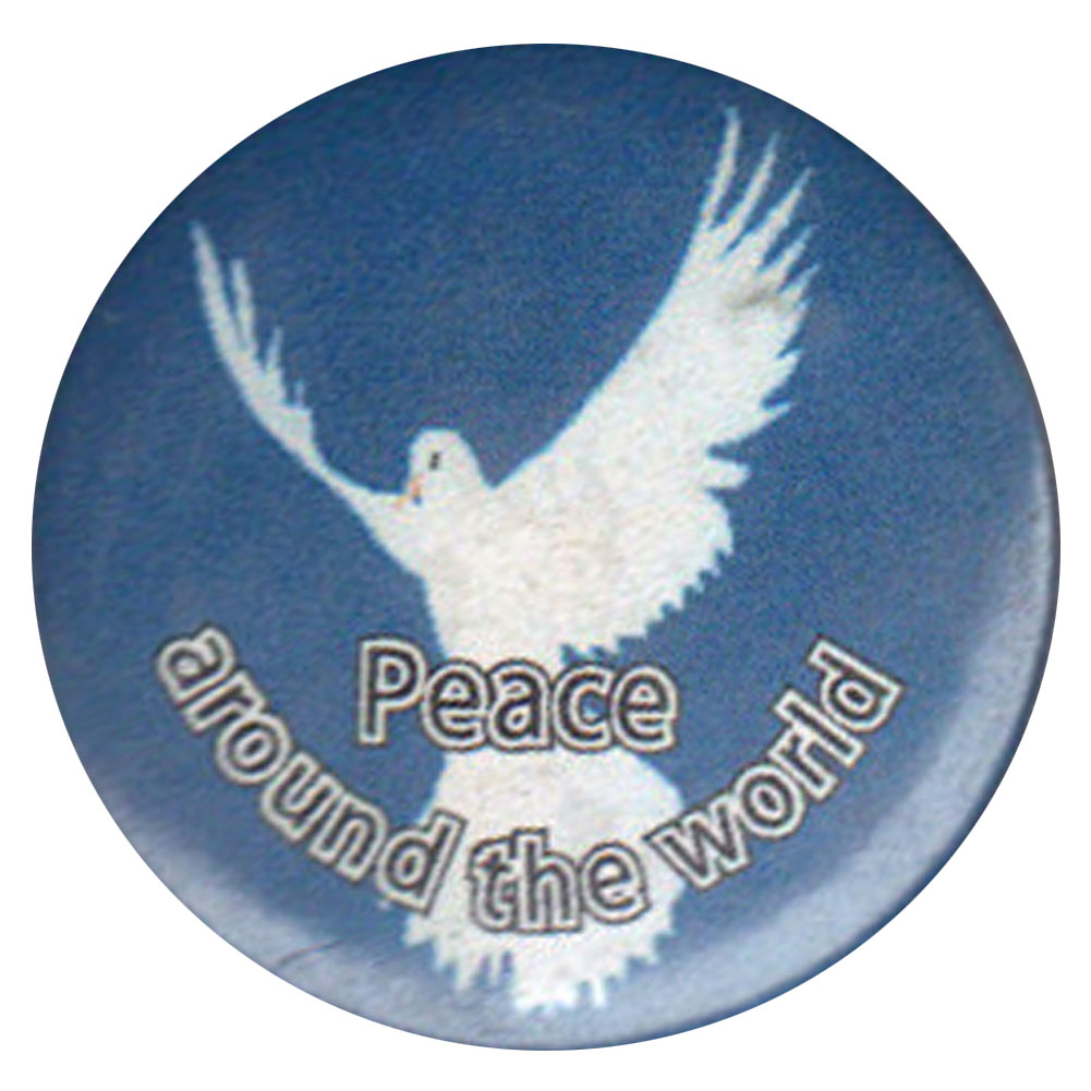 B264 - Peace Around the World Button