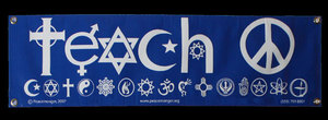 BAN003 - Teach Peace Banner (1' x 3' with grommets)