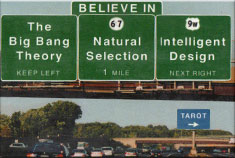 EM3 Believe Big Bang Evolution Intelligent Design Tarot Traffic Signs Fridge Magnet