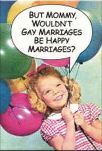 EM143 - Gay Marriages Be Happy Magnet