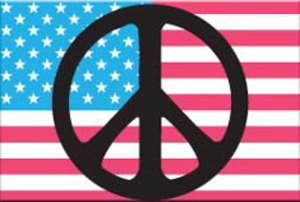 EM156 - Peace Sign Flag Magnet