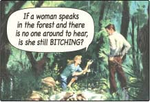 EM250 - If a woman speaks in the forest Magnet (7446)