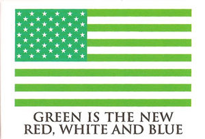 EM261 - Green is the new Red, White, and Blue Magnet (7442)