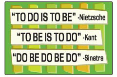 EM264 - To do is to be - To be is to do - Do Be Do Be Do - Magnet (9481)