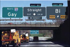 EM39 - Gay Highway Signs Magnet