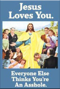EM81 - Jesus Loves You Magnet