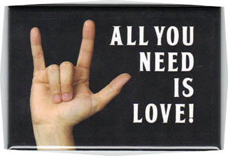 FM026 - All You Need is LOVE! John Lennon Quote Fridge Magnet