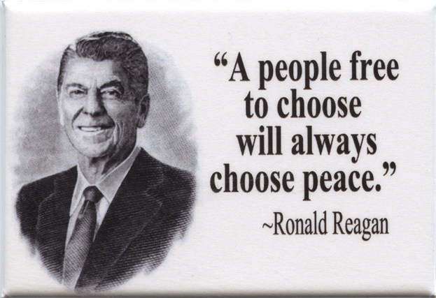 Ronald Reagan Quotes Magnificent Ronald Reagan Quote A People Free To Choose Fridge Magnet
