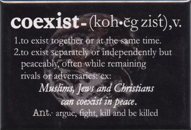 Coexist Word Definition Fridge Magnet