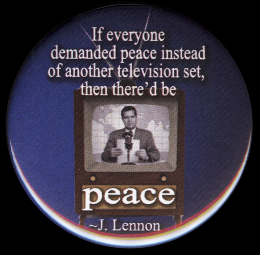 B189 - If everyone demanded PEACE - J. Lennon Quote Button