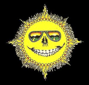 Skeleton Sun Mini Art Decal Window Sticker