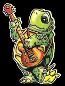 MA24 - Jammin' Turtle Mini Art Decal