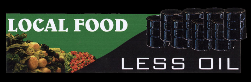 MS145 - Local Food, Less Oil Mini Sticker