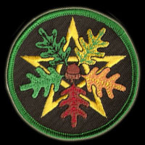 P100 - Oak Leaf Pentacle Embroidered Patch