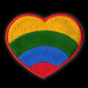 P105 - Rainbow Heart Embroidered Patch