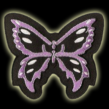 P146 - Black And Purple Butterfly Patch