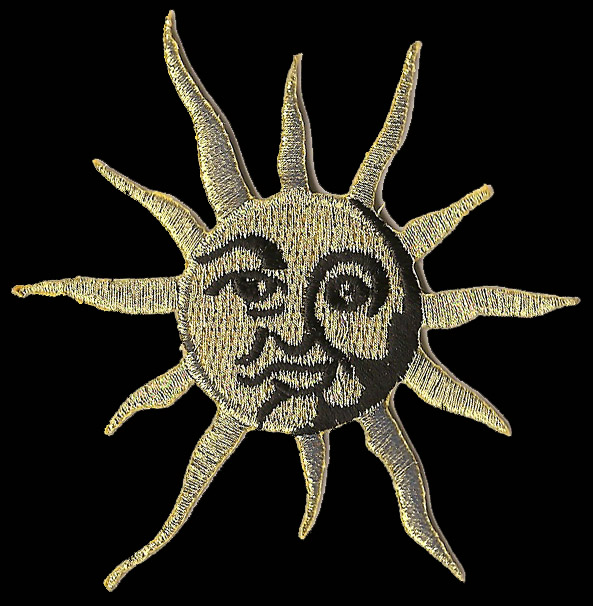 P156 - Metallic Gold Sun Patch