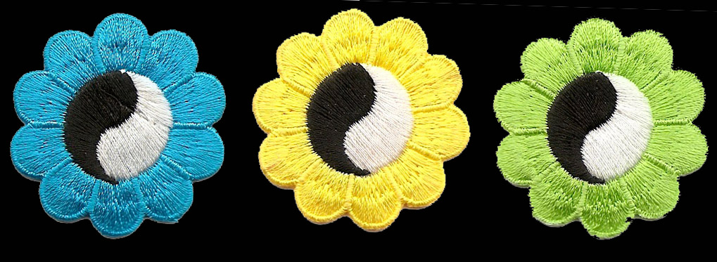 P166 - Small Yin Yang Flower Patch