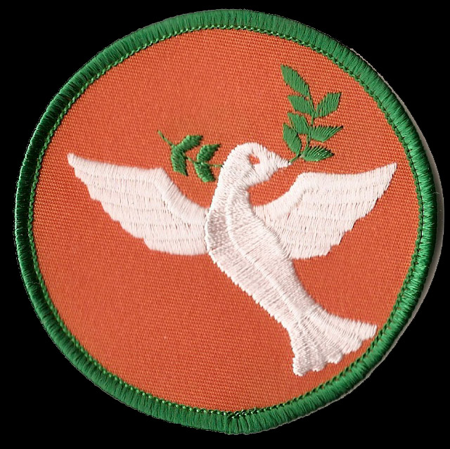 P204 - Dove With Olive Branch Patch