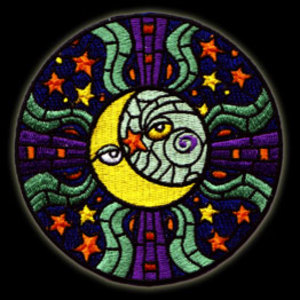 P28 - Large  Sun & Moon Embroidered Patch