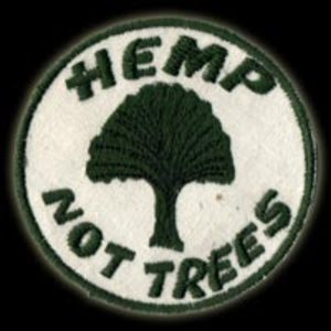 P036 - Hemp Not Trees Embroidered Patch
