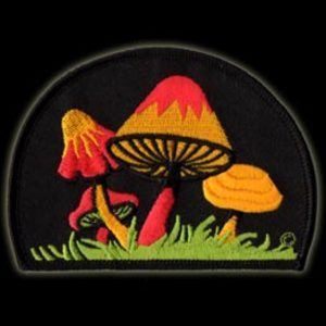 P049 - Large  Mushroom Embroidered Patch