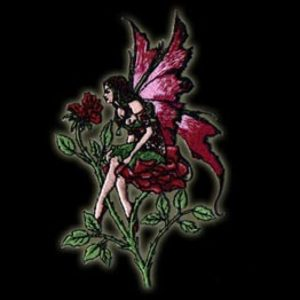P062 - Rose Fairy Embroidered Patch