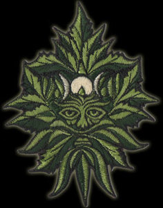 P071 - Ganja Green Man Embroidered Patch