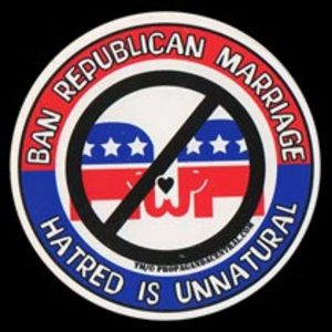 S273 - Republican Marriage Circle Sticker
