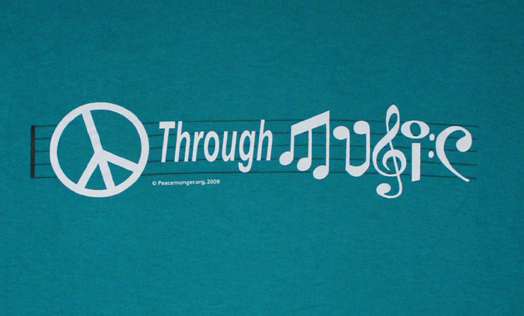 T67TL - Peace Through Music T Shirt