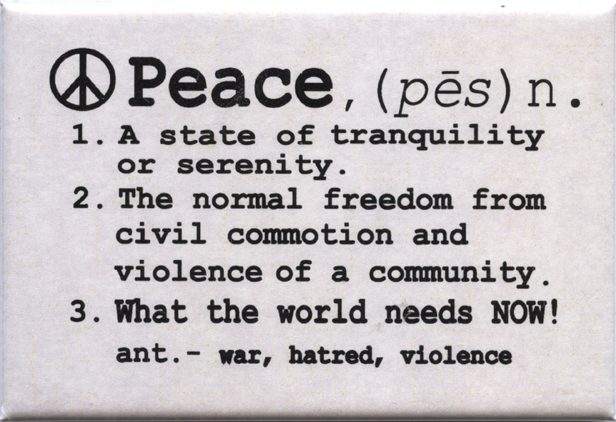 FM027 - Peace Definition Fridge Magnet