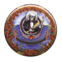 B029 - Grateful Dead Skull Bertha Deadheads Across the Golden Gate Bridge Button California Roses